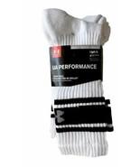 Under Armour Performance 4 Pair Mens Crew Socks Large White Athletic UA ... - $22.77