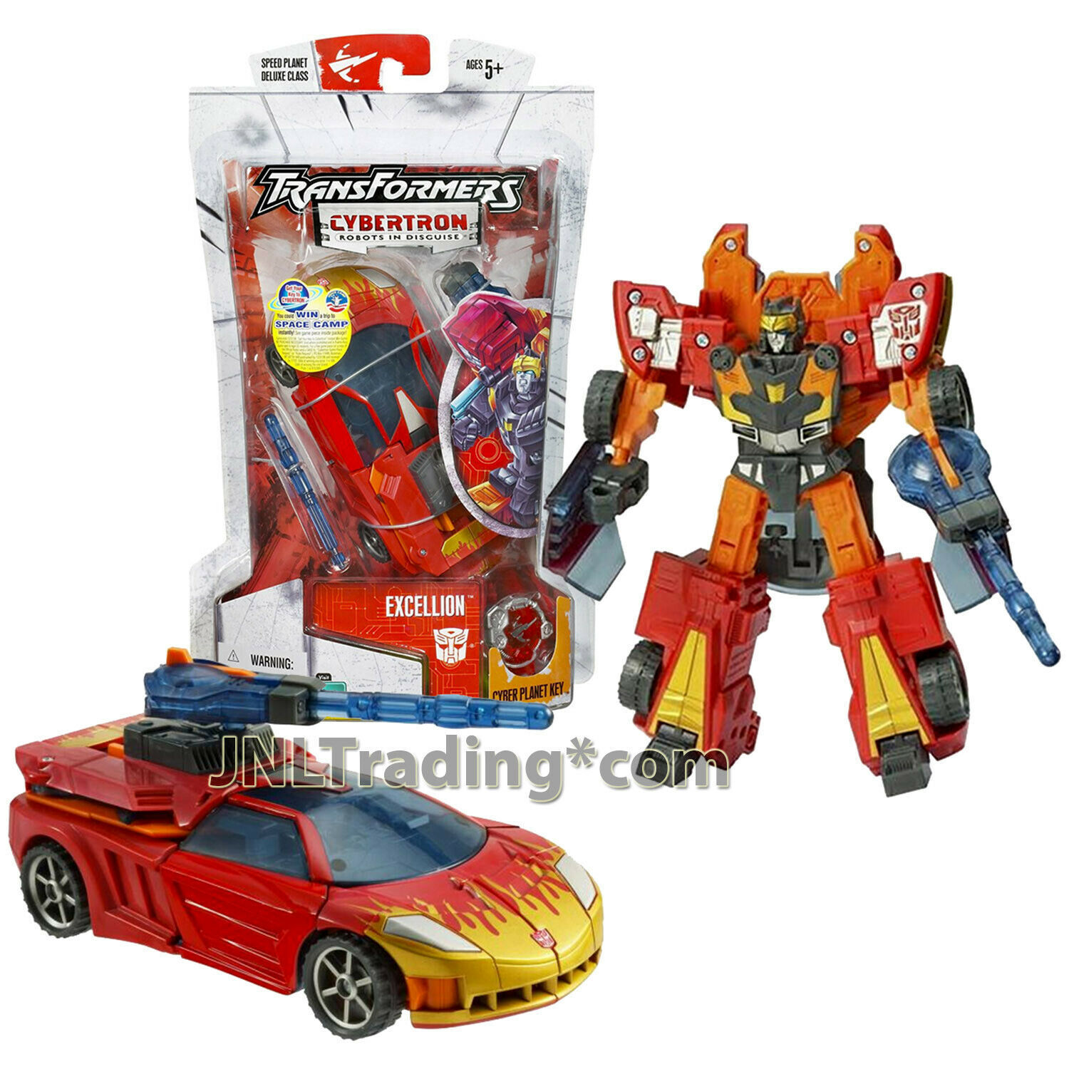 """Year 2005 Hasbro Transformers Cybertron Series Deluxe Class 6"""" Figure EXCELLION"""