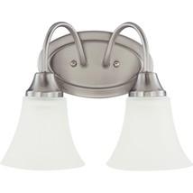 Sea Gull Lighting Holman 2-Light Brushed Nickel Vanity Fixture - $24.70