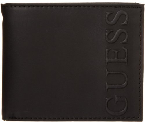 Guess Men's Fresno Passcase Wallet, Black, One Size