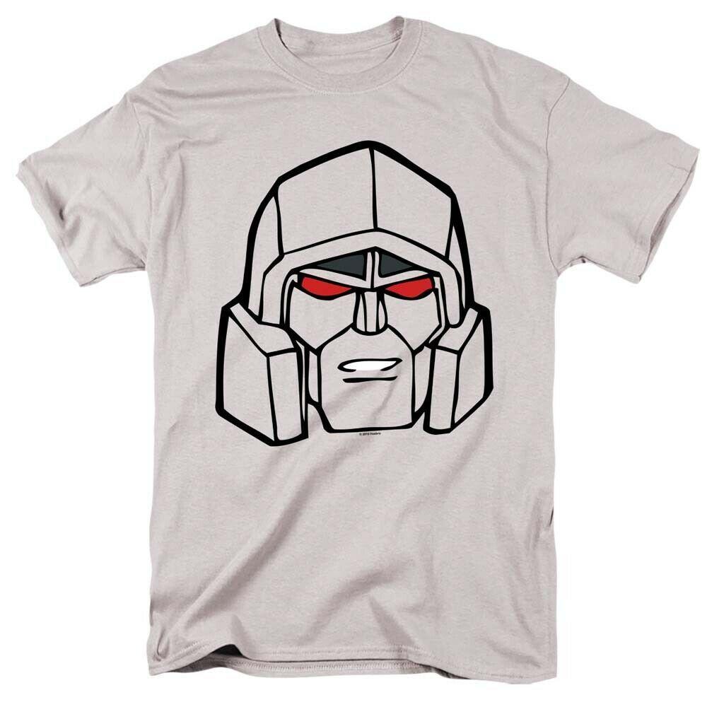 Transformers megatron t shirt retro 80s toys cartoon graphic printed grey tee american