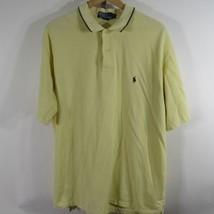 Ralph Lauren Chemise Polo Golf Hommes XL Jaune Clair Marine Queue de Cheval - $10.58