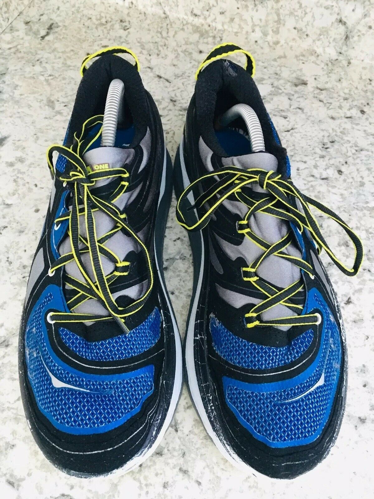 HOKA One One Constant Blue Yellow & Black running Shoes Men's SIZE 10