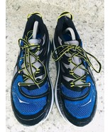 HOKA One One Constant Blue Yellow & Black running Shoes Men's SIZE 10 - $58.36