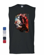American Firefighter Muscle Shirt Hero Fire and Rescue FD Volunteer Slee... - $10.84+