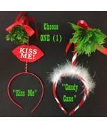 Adult Funny HOLLY MISTLETOE HEADBAND Ugly Christmas Sweater Santa Costum... - $4.97
