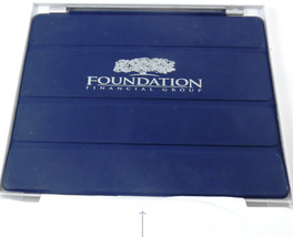 iPad Smart Cover Navy Blue Black w/ Foundation Financial Group Logo - $4.84