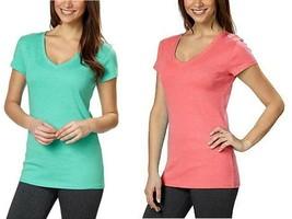 Kirkland Signature Ladies Premium Pima Cotton V-Neck T-Shirts - $12.99