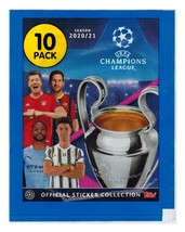 Champions League 2020-2021 Sealed Pack Stickers Topps - $1.00