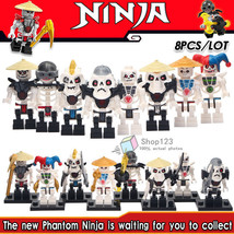 8pcs/set Ninjago Skeleton the Skulkin Army Frakjaw Nuckal Kruncha Minifigures - $14.95