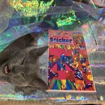Vintage Lisa Frank JUMBO Puzzle Sticker Sheet SEALED Hollywood Bear RARE HTF image 2