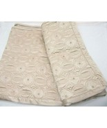 Hotel Collection Embroidered Circles Gold Quilted King Pillow Shams (Set... - $62.00