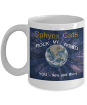 Cat Lover Sphynx Cat Coffee Mug White 110Z - $14.92