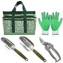 CERBIOR Garden Tool Set 5 Piece Heavy Duty Hand Tools with Garden Canvas... - $17.23