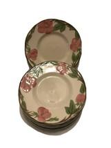 """Vintage Franciscan Desert Rose Ceramic Set of 7 Dessert Plates 6 1/4"""" - $16.06"""
