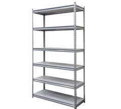 Heavy Duty Shelving Unit Steel Frame 6-Shelf Industrial Storage Garage O... - $2.014,39 MXN