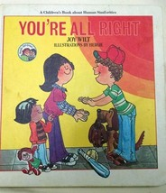 You're All Right Children's Book Human Similarities Joy Wilt 1979 - $7.87