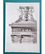 ATHENS Greece Lysicrates Monument Architrave Detail - 1905 Heliogravure ... - $33.75