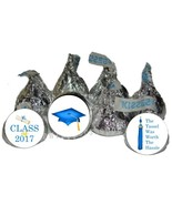 2017 Blue Graduation Party Favors Kiss Labels Candy Wrappers 756 - $21.02