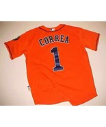 Houston Astros Carlos Correa #1 MLB AL Majestic Cool Base Orange Blue Je... - $49.49