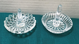 A Pair of Cut Crystal Clear Ring Dishes // Jewelry Organization // Ring ... - $12.00