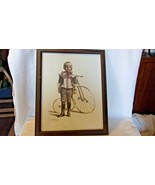 Early 1900s Little Boy In Knickers With Tricycle Framed Print by Joanne ... - $74.25