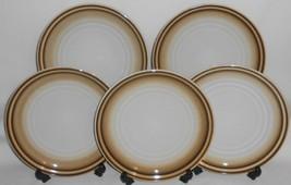 Set (5) Noritake Stoneware Fanfare Pattern Salad Plates Made In Japan - $69.29
