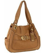 NWT B. Makowsky Dakar Buckle Front Leather Shopper Tote Bag in VACHETTA - $198.00