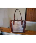 AuthenticBrahmin Medium Misha Moonscape Portia Embossed Leather Multi Ne... - $227.69
