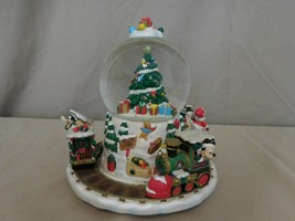 Disney Christmas Collection Holiday Express Snowglobe Moving Musical Train RARE - $143.57