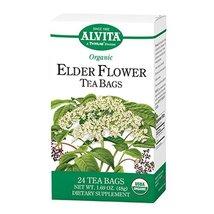 Alvita Organic Elder Flower Tea Bags, 24 Count - $10.86