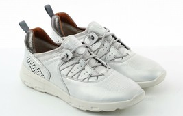 Womens Rockport Lets Walk Bungee Sneakers - Platinum Silver Size 7 [CH4692] - $89.99