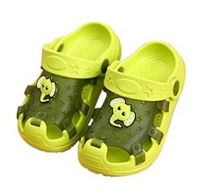 Kids Sandals in/Outdoor Toddler Clogs Shoes/Green Elephant 16.5CM Length