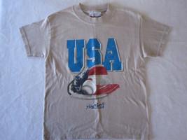 Boys Chase Authentics Beige Short Sleeve Shirt Size S - $6.79