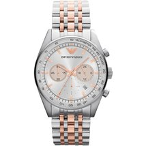 Emporio Armani AR5999 Gold & Silver Stainless Steel Bracelet XL Men's Watch - $159.99