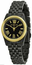 NWT Michael Kors MK3299 Lexington Black Dial Black Ion Plated Women's Watch - $129.99