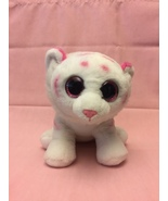 Ty tabor pink and white tiger plush thumbtall