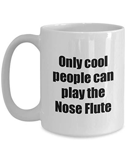 Primary image for Nose Flute Player Mug Musician Funny Gift Idea Gag Coffee Tea Cup 15 oz
