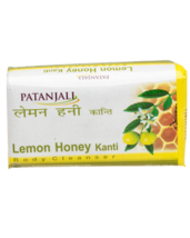 PATANJALI LEMON HONEY KANTI BODY CLEANSER SOAP BAR- 75gm  - $9.99+