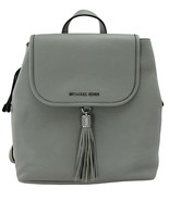 Michael Kors Bedford Backpack Bag Pearl Grey Pebbled Leather Medium - $468.88