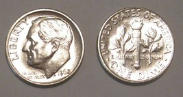1962 P and D BU Roosevelt Dimes CP1244 - $8.50