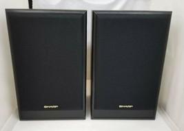 "Sharp CP-1650P BK Speaker System Set of 2 200W 8 Ohms Works EUC 16""x10""x... - $125.77"