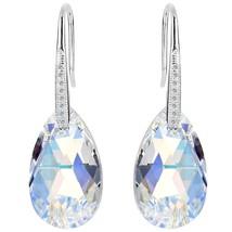 EleQueen 925 Sterling Silver CZ Teardrop Shepherd Hook Dangle Earrings I... - $66.96 CAD
