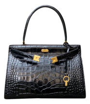 New Tory Burch Lee Radziwill Embossed Satchel - $964.42 CAD