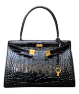 New Tory Burch Lee Radziwill Embossed Satchel - $728.00