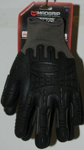 MADGRIP 495725 Thunderdome Impact Gloves Black Grey Rubber XL