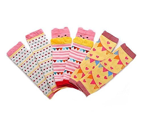 Baby Cotton Socks Baby Leggings Comfy Leg Guards,3 SetsYellow )