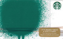 Starbucks 2014 Green Blob Collectible Gift Card New No Value - $3.99