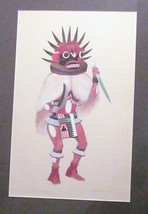 LEROY KEWANYAMA HOPI SIGNED ORIGINAL GOUACHE-17x24 FRAMED -PRIV COLL-BEA... - $1,994.99