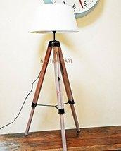 Nauticalmart Designer's Adjustable Wooden Tripod Floor Lamp - $122.76